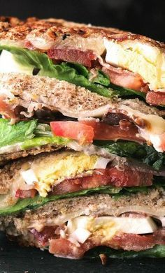 nice BLT with Egg Grilled