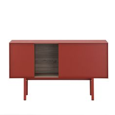 Reverse is the new collection of sideboard designed by Gheradi Architetti for #Novamobili. #Modern simple #sideboard that alternate closed #cupboards with push and pull system to open shelving in a nice combinations of colours and finishes.