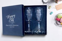 Set of 2 champagne flues, 25th anniversary Champagne glass engraved,Wedding Cham... #25th #anniversary #Cham #champagne #Engraved #engravedWedding #flues #glass #Set #wedding Wedding Shot Glasses, Wedding Champagne Flutes, Champagne Glasses, Engraved Champagne Flutes, Valentines Day Birthday, David, Wedding Toasts, Old Fashioned Glass, Wedding Keepsakes