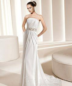723a21c69bee Royal A-line Bateau Chapel Ruffles Wedding Dress at Storedress.com La Sposa  Wedding