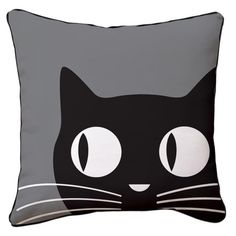Big Eyes Cat Pillow from the Naked Décor event at Joss and Main!