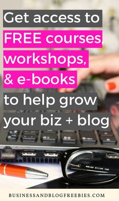 Get access to free courses, workshops, e-books, and more when you sign up for the Business and Blog Freebies email list! Freebies to help you grow your business or blog are sent three times a week!