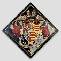 Hatchment in Dore Abbey at Abbey Dore, Herefordshire, England Herefordshire, Coat Of Arms, Porsche Logo, Funeral, Symbols, Display, Logos, England, Den