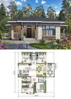 House Layout Plans, My House Plans, Small House Plans, House Layouts, Modern Small House Design, Simple House Design, Modern House Floor Plans, Tiny House Village, Independent House