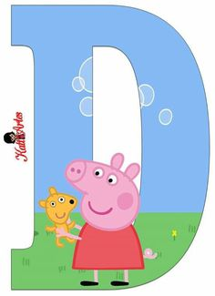 D Peppa Pig Imagenes, Childrens Cupcakes, Peppa Pig Teddy, Cumple Peppa Pig, Pig Character, George Pig, Alphabet Crafts, Pig Party, Diy Toys