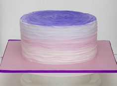 Pink to purple ombre cake