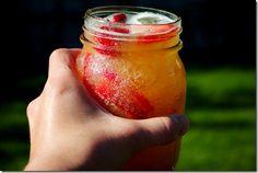Nectarine Vodka drink