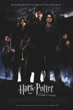 Harry Potter and the Goblet of Fire Movie Poster Harry Potter Dragon, Harry Potter Goblet, Harry Potter Facts, Harry Potter Movies, Mike Newell, Miranda Richardson, Brendan Gleeson, Michael Gambon, Fire Movie