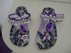 Resultado de imagem para chinelos decorados