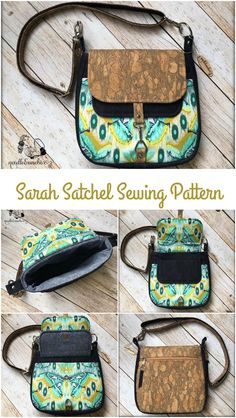 Fabulous sewing pattern - the perfect purse.  Works in quilting cottons, vinyl, cork etec