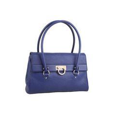 Salvatore Ferragamo Jules Shoulder Handbags - Blu Notte Safari