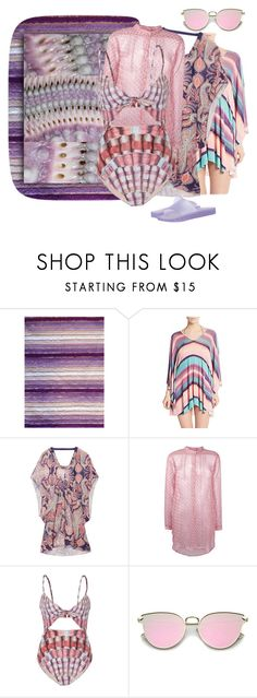 """Sea Urchin Mimicry♡Beach Wear II 💜💗"" by tmcintyre ❤ liked on Polyvore featuring Espalma, ViX, Suboo, Cloe Cassandro, Mara Hoffman and Melissa"