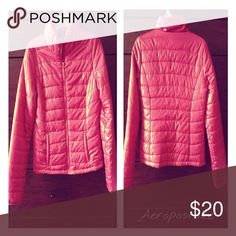 Aeropostale hot pink bubble coat Only worn twice  / like new condition / functioning zipper / two front pockets / low collar / 100% polyester Aeropostale Jackets & Coats Puffers