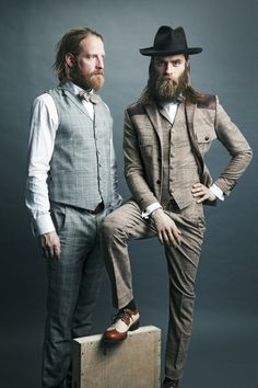 Bearded suits.