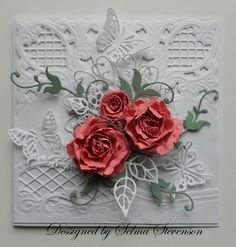 Coral Roses by Selma - Cards and Paper Crafts at Splitcoaststampers