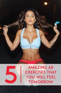 5 Amazing Ab Exercises That You Will Feel Tomorrow #fitness #fit #exercise #health