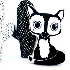 Panda Pillow, Fox Pillow, African Babies, Monochrome Nursery, Animal Heads, Safari Animals, Wall Stickers, Plush, Pillows