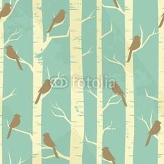 Vector: Vintage Birch Pattern on Fotolia