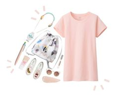 """""""baby peach    t shirt dress"""" by sapphirefire098 ❤ liked on Polyvore"""