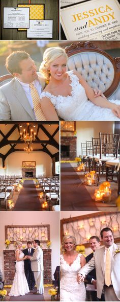 Yellow definitely one of our favorite colors. Combine that with rustic details and a vintage you have a dream wedding!