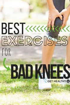 Knee pain is one of the most common injuries. If you want to prevent knee problems or strengthen legs after knee issues, try these 10 low impact exercises that will work your body but be easy on those (Leg Workout For Bad Knees) Lady Fitness, Fitness Tips, Fitness Motivation, Health Fitness, Planet Fitness, Fitness Products, Senior Fitness, Fitness Watch, Fitness Quotes