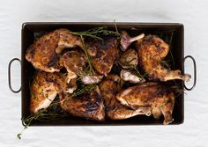 Roast Chicken with Herb-and-Garlic Pan Drippings - Bon Appétit