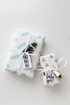 Best gifts ideas wrapping papers The Best DIY Gift Wrap Ideas Ever - Washi Tape Dcor. Decorate white wrapping paper with simple washi tape geometric shapes for a fun and fresh design. Present Wrapping, Creative Gift Wrapping, Creative Gifts, Wrapping Papers, Cute Gift Wrapping Ideas, Diy Wrapping Paper, Gift Ideas, Holiday Gifts, Christmas Gifts