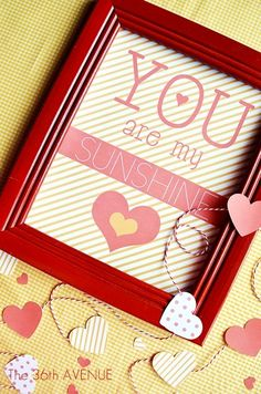 You are my sunshine Free Printable by the36thavenue.com