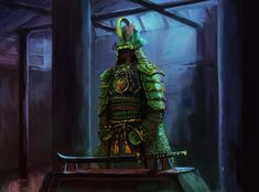 Dragon Warrior, Samurai Warrior, Fantasy Weapons, Fantasy Rpg, Dungeons E Dragons, Samurai Artwork, Japanese Warrior, Samurai Tattoo, Fantasy Inspiration