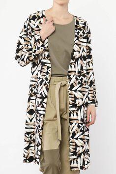 Multi-color, natural pattern coat with long sleeves.   Natural Pattern Coat by mo:vint. Clothing - Jackets, Coats & Blazers - Coats Los Angeles, California