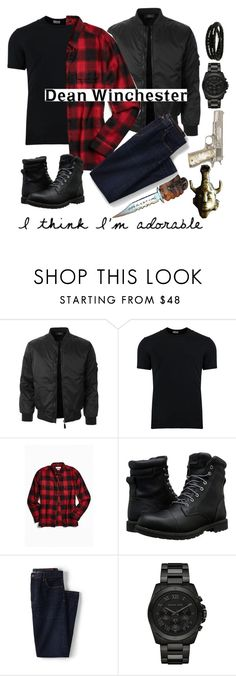 """""""D Winchester"""" by ankita-jha ❤ liked on Polyvore featuring LE3NO, Dolce&Gabbana, Urban Outfitters, Timberland, Lands' End, Michael Kors, Porsche Design, men's fashion and menswear"""