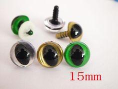 60pcs 15 mm cat eyes- animal eyes doll parts for amigurumi plush toy Each color 20 PCS