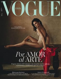 British fashion designer Victoria Beckham stripped down to her flesh-colored undergarments for the February 2018 cover of Vogue Spain lensed by photographer Boo George...