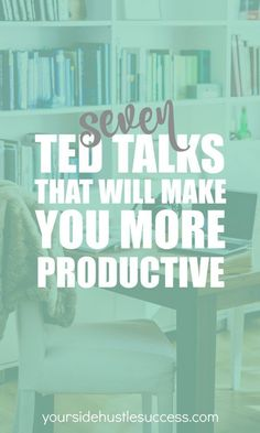 Want to get more done? These TED talks will help you find new ways to look at the way you work. Find more time for what's important in your life; side hustle or more time with the family. Great tips for using your time more effectively.