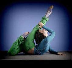 Very pretty spine contortion pose.