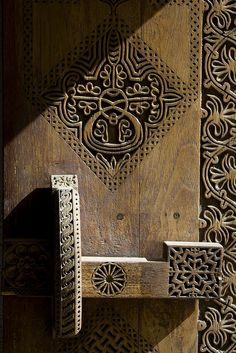 Thai hand carved door