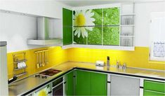 Modern kitchen paint colors 2014 modern kitchen colors best color ideas design adding stylish to home Modern Kitchen Paint, Modern Kitchen Backsplash, Kitchen Tiles Design, Modern Kitchen Design, Modern Kitchens, Backsplash Ideas, Colorful Kitchens, Modern Design, Yellow Kitchen Cabinets
