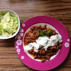 Rezept Barbecue-Hack-Kartoffeln mit Sour Creme von Diddy91 - Rezept der Kategorie Hauptgerichte mit Fleisch