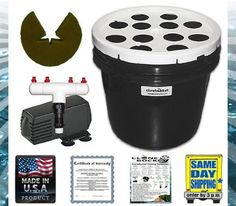"""12 Site Aeroponic Plant Cloner - Clone Bucket 12 from CloneBucket.com by Clone Bucket. $55.99. Four (4) 360 Degree Sprayers. 3.5 Gallon Black Clone Bucket (controls algae growth within the machine). Twelve (12) 2"""" Neoprene Inserts (NO net pots are required. Inserts are reusable). ECO PLUS Filtered 185 GPH Pump (built in pre-filter to keep sprayers free from debris). White Lid (reflects light onto the plants). CloneBucket.com since 2005. Roots appear in 6-10 day..."""