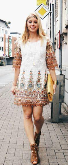 baroque printed dress