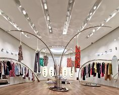 Marni store by Sybarite quite original Swap Party, Luxury Lingerie, Visual Merchandising, Store Design, Marni, Ceiling Lights, Display, Boutique, The Originals