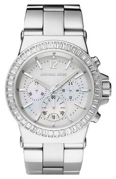 To add to my collection...Michael Kors Crystal Bezel Chronograph Watch available at #Nordstrom