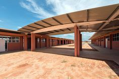 Solar Village, Cabiri, Angola, 2010-2014 | Design - José Forjaz | © COSTALOPES / Manuel Correia Solar, Pergola, Outdoor Structures, Design, Architects, Design Comics, Arbors, Sun