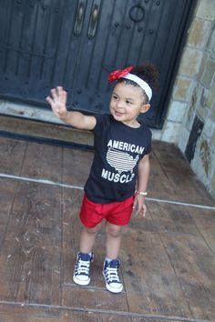 American Muscle Kids Tee 4th of July shirt by LittleNuggetApparel