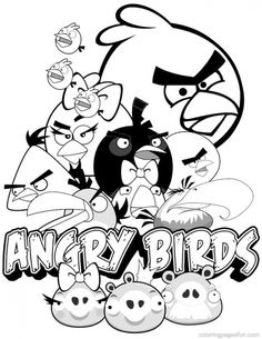Red falling in love in Angry Birds coloring pages   Fun Coloring ...