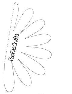 Best 12 ♥ Feltro-Aholic ♥ Moldes e Flower templates for felt crafting & other ideas – SkillOfKing. Paper Flower Garlands, Paper Flower Backdrop, Giant Paper Flowers, Paper Roses, Felt Flowers, Fabric Flowers, Gerbera Flower, Flower Art, Flower Applique Patterns