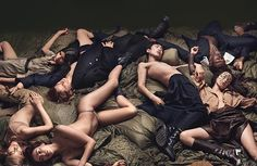 In W's first his-and-hers issue, male and female models--including Guinevere van Seenus, Maria Borges, and Irina Shayk--embrace one of the season's key trends. Craig Mcdean, Irina Shayk, Sang Woo Kim, Cristiano Ronaldo, Catherine Lara, Military Trends, Sam Mcknight, Film Anime, Transgender Model