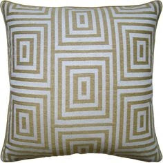 Very pretty Modern decorative pillow with graphic prints.  Free shipping!