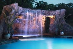 Cox Grotto - traditional - swimming pools and spas - StoneMakers of Central Oklahoma Amazing Swimming Pools, Luxury Swimming Pools, Natural Swimming Pools, Luxury Pools, Dream Pools, Cool Pools, Grotto Pool, Lagoon Pool, Pool Spa