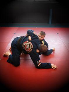 Manto Stripe Fight Shorts Navy Blue Red No-Gi Jiu Jitsu Grappling Training MMA